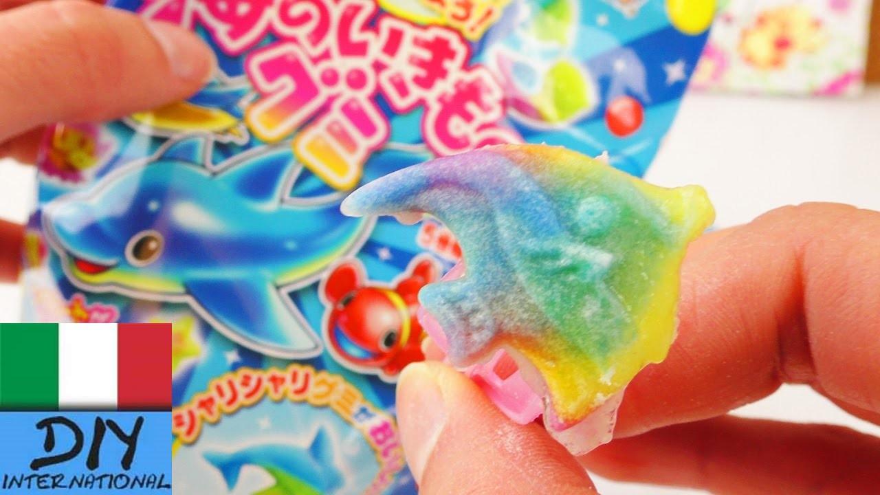 Popin 'Cookin' Candy Set giocattoli di gomma fai da te   Da Kracie   Pesci colorati in gomma