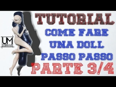 DIY - Tutorial Come Fare il viso e il busto di una doll in fimo - parte 3.4