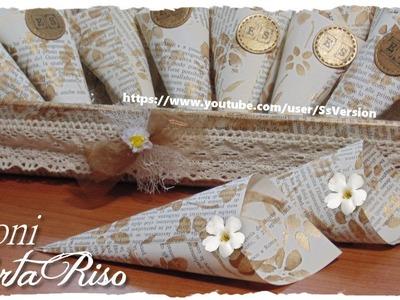 Tutorial: Coni Porta Riso e Porta Confetti Eleganti Fai Da Te | DIY Wedding Rice Cone