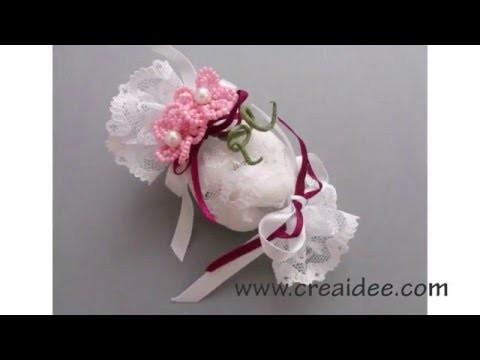Bomboniera con fiori di perline - Tutorial DIY di Creaidee