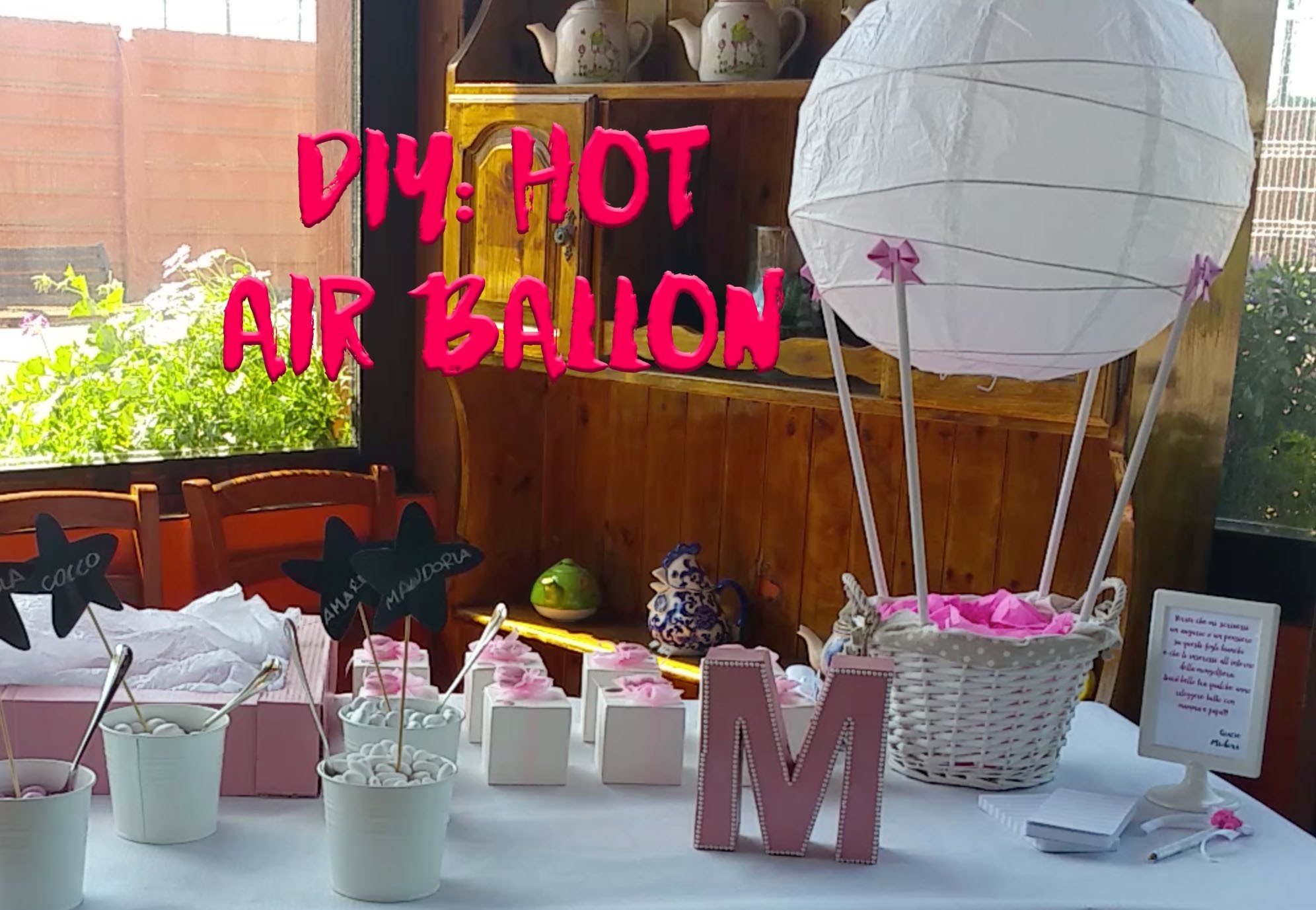 Diy: hot air ballon with ikea lamp.Diy: mongolfiera con lampada ikea