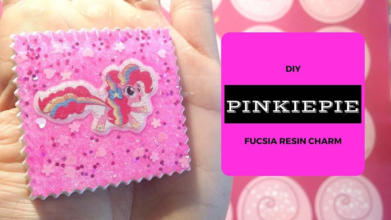 DIY -  Pinkie Pie - Fucsia resin charms