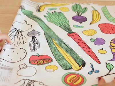 DIY TOVAGLIOLI VEG! | spese da IKEA | per una tavola colorata!