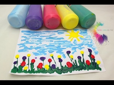 Homemade Puffy Paint DIY-Come fare Colori 3D Fai da te per Bambini con schiuma da barba