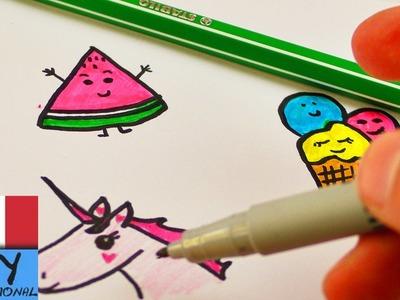 Idee per DIY Filofax| disegnare piccole figure | Sweet Edition con dolci, gelato ed unicorno