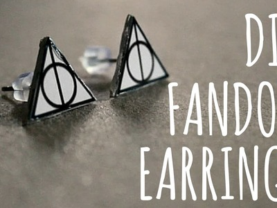 DIY FANDOM EARRINGS - ORECCHINI NERD