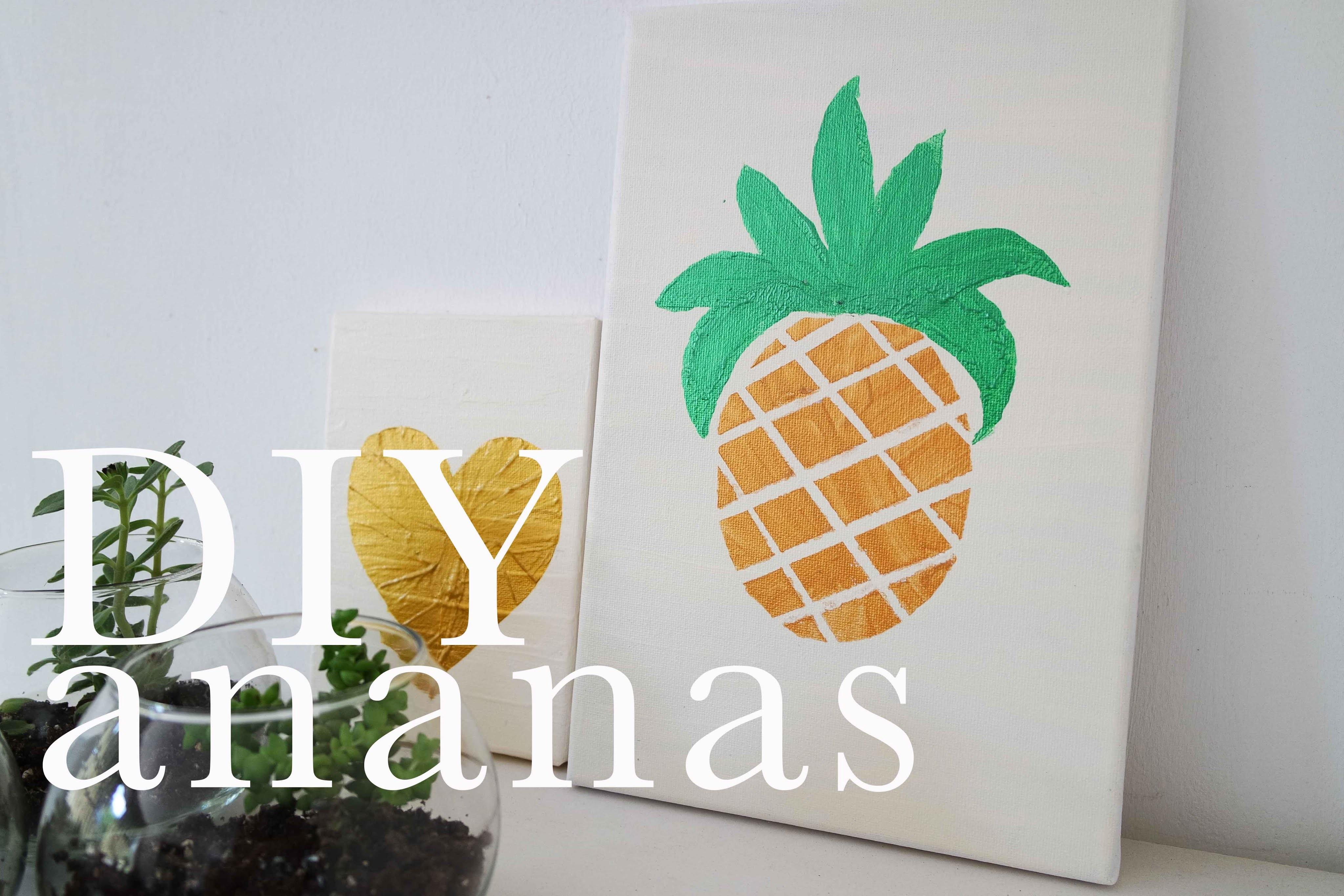 Quadretto con Ananas   DIY Saturday   CasaSuperStar