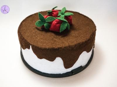 Tutorial: Torta in Feltro da Scatola DVD (ENG SUBS - DIY felt cake from DVD holder)