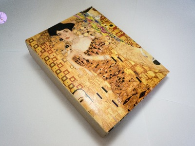 "Album Fotografico ""Klimt"" in Decoupage&Cracklè (ENG SUBS - DIY photo album with decoupage&cracklè)"