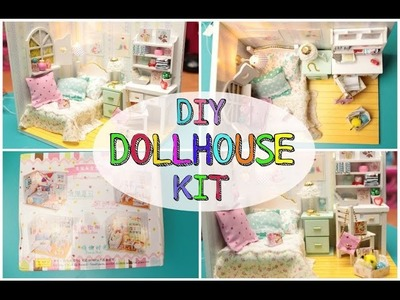 DIY Miniature Dollhouse kit - Bedroom | Sissy's Creations