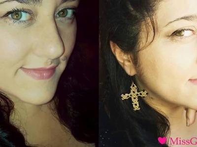 DIY Tutorial Orecchini Mystic Cross | Bicono Swarovski e perline | MissGiuliaa