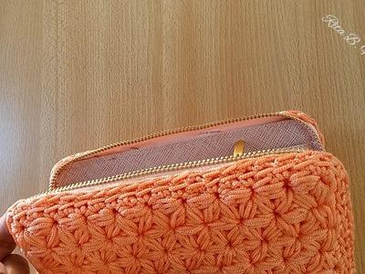 PORTAFOGLIO a Punto Stella - Tutorial crochet