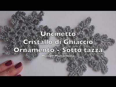 Uncinetto Cristallo di Ghiaccio Pizzo Sotto Tazza | Crochet Coaster Lace