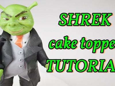 How to make SHREK wedding Cake topper fondant - torta matrimonio in pasta di zucchero