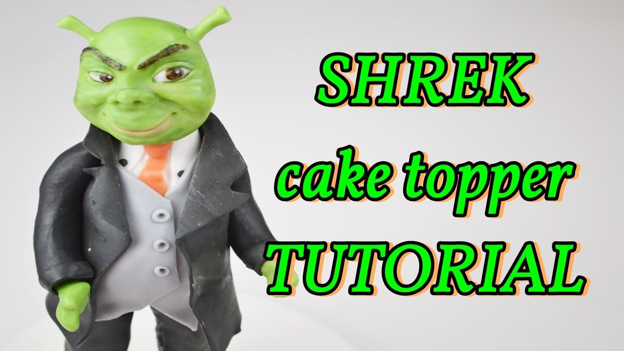 How to make SHREK wedding Cake topper fondant - torta matrimonio in pasta di zucchero