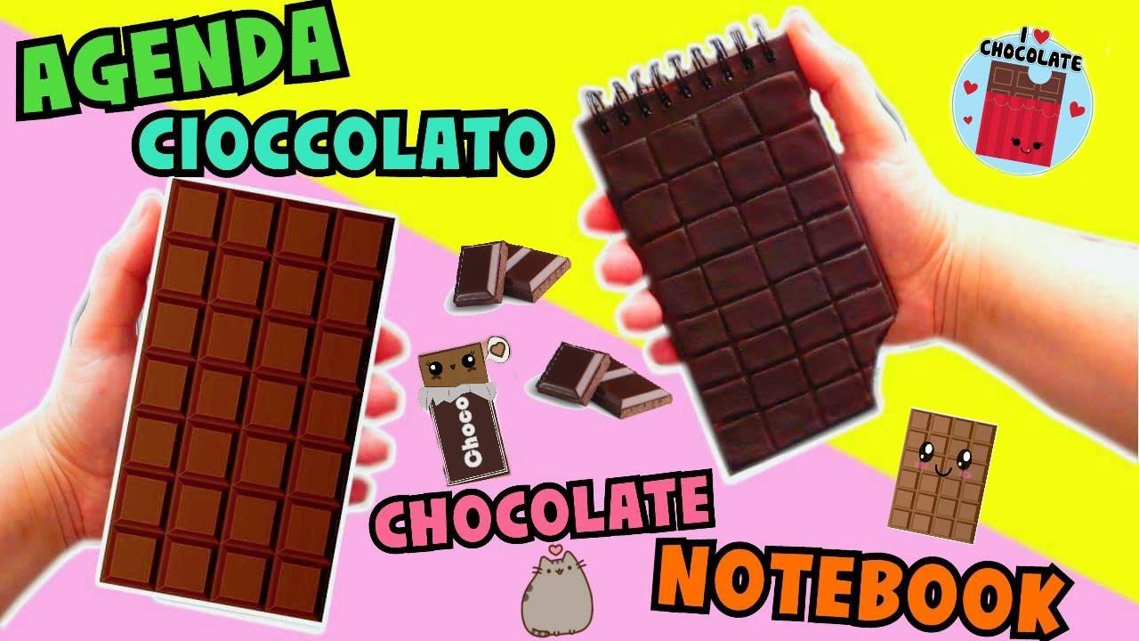 DIY AGENDA CIOCCOLATO (con la porcellana fredda) (Chocolate Notebook) || Iolanda Sweets