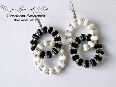 DIY - Orecchini otto - rulla beads