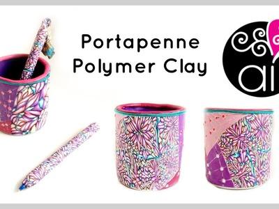 Da Barattolo a Portapenne | Polymer Clay Penholder Tutorial | Come rivestire un portapenne in Fimo