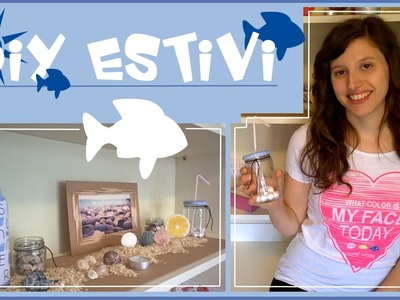 Diy estivi.decorazioni estive per la casa.cornice con stuzzicadenti.bottiglia e vasetti di vetro