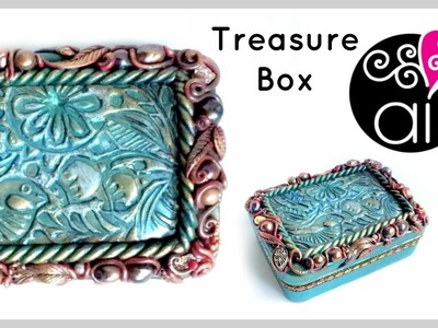 Treasure Box Tutorial | Come rivestire una scatola in stile Fantasy con le Paste Polimeriche