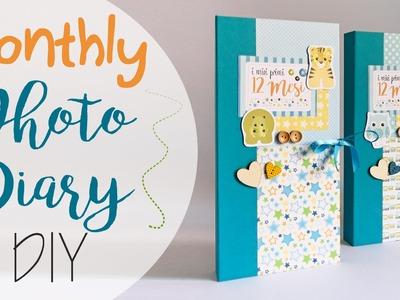 Tuto: Diario foto mensili bimbi - ENG SUBS Monthly Baby Photo Diary DIY