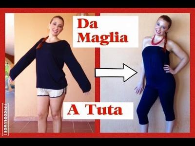 Come trasformare una MAGLIA in una TUTA sexy - DIY JUMPSUIT - TUTORIAL by Diana toto