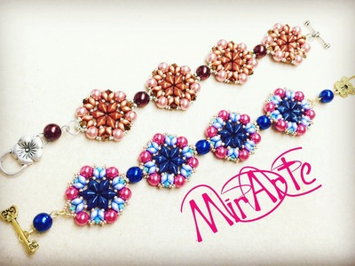 DIY Tutorial Bracciale Harmony (DiamonDuo-Es O-Perle-Biconi 3mm)