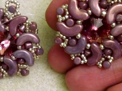 DIY Tutorial: modulo Shooting Star (Stella Cadente) - incastonatura con Arcos - les perles par Puca