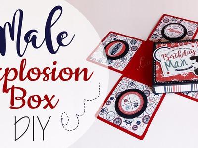 Tuto: Explosion Box per Ragazzo - ENG SUB Male Explosion Box DIY