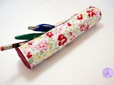 Tutorial: Astuccio in Cartone&Stoffa Senza Cucire (SUB ENGS -DIY no sew cardboard&fabric case)