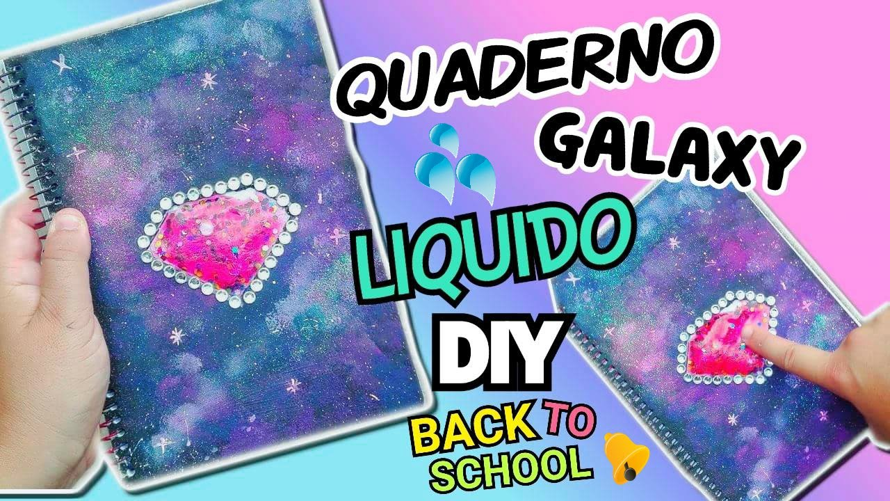 QUADERNO LIQUIDO GALAXY (DIY Back To School ITA) || Iolanda Sweets