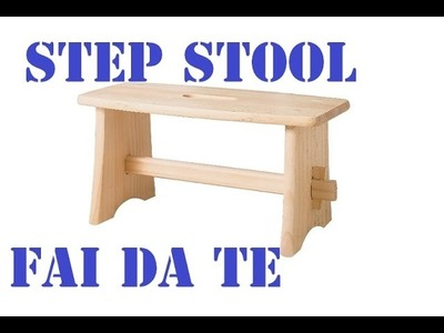 Sgabellino Step Stool by Paolo Brada DIY