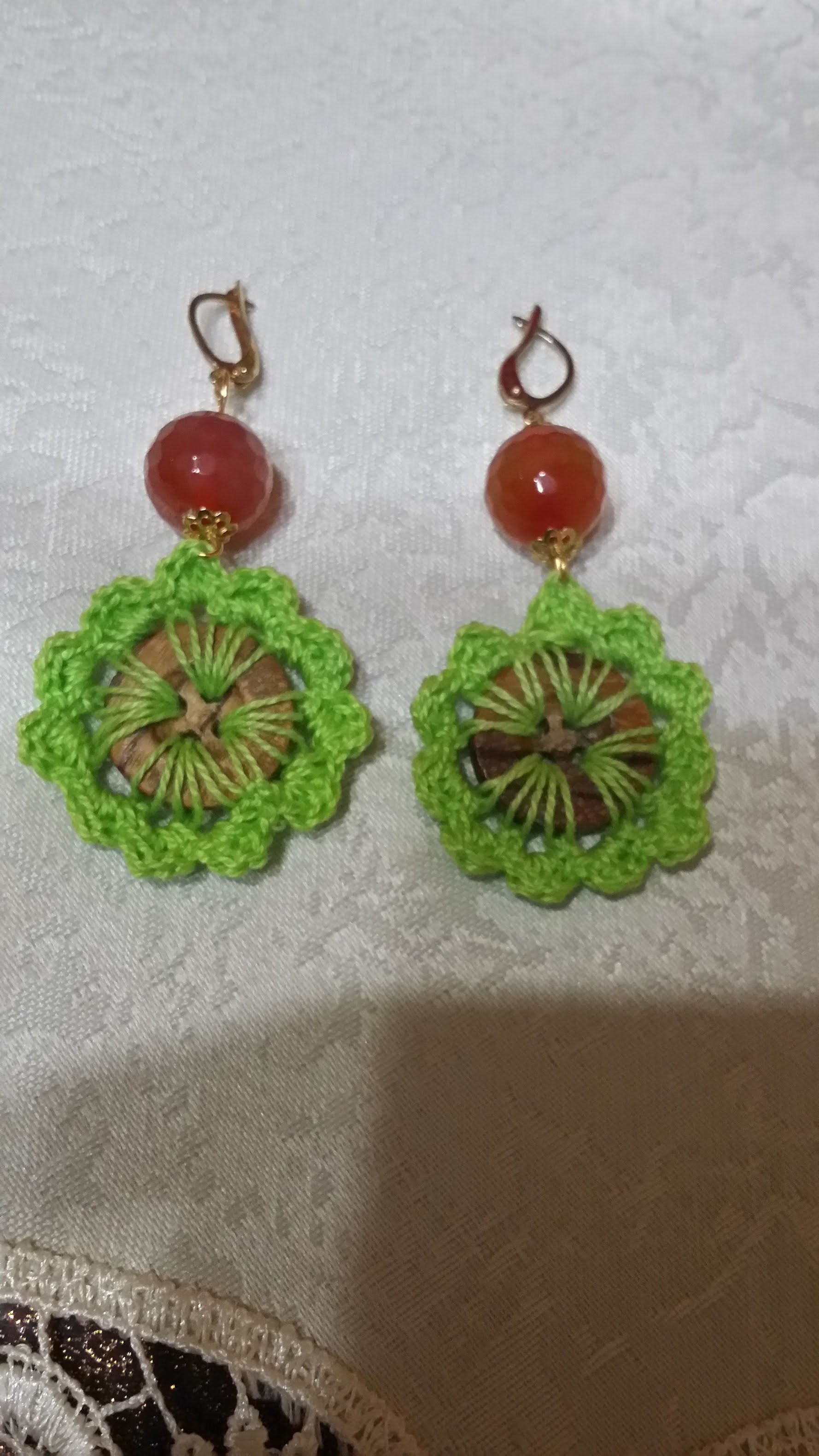 Orecchini Con Bottoni Alluncinettoearrings With Crochet Buttons