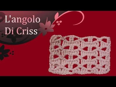 Punto fiocchetti all'uncinetto - crochet bows stitch - punto arcos en crochet