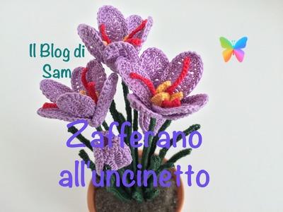 Spiegazione del fiore dello Zafferano all'uncinetto