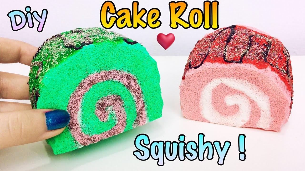 SQUISHY FATTO IN CASA! DIY Cake Roll Squishy fatto a mano !Tutorial ✿