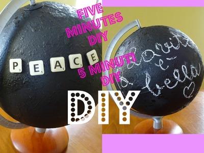5 Minutes DIY! Decorazione Facile e Veloce! Vernice Magnetica e Mappamondo.