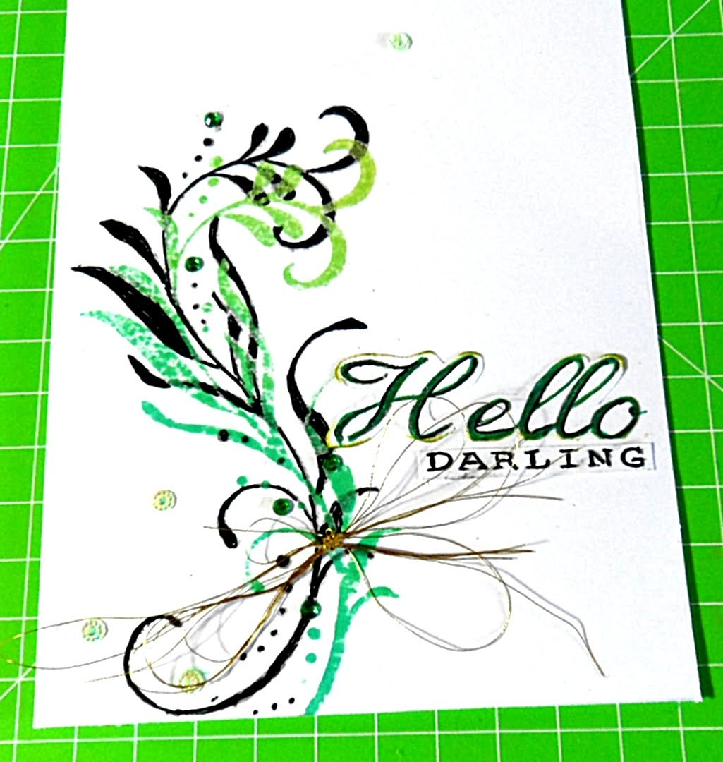 Clean &  Simple Card#2 DIY Scrapbooking Principianti