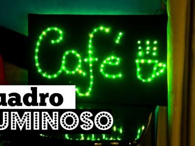 Diy: Quadro luminoso Café | BIS DE CEREJA