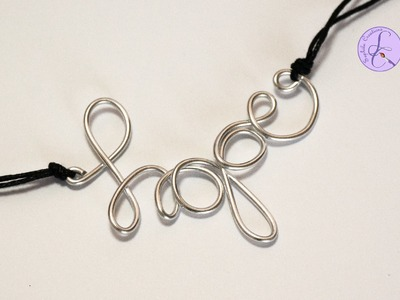 "Tutorial: Parola ""Hope"" in Wire (ENG SUBS - DIY pendant wire word hope)"