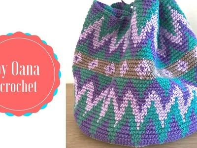 Borsa. cesto  tapestry crochet. wayuu mochila- by Oana
