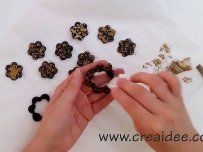 Collana nero e oro - Black and gold Necklace - Tutorial DIY di Creaidee