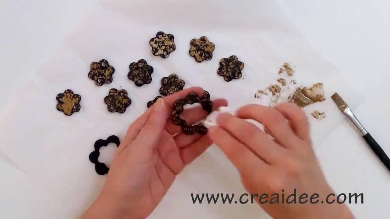 Collana nero e oro - Black and gold Necklace - Tutorial DIY di Creaidee