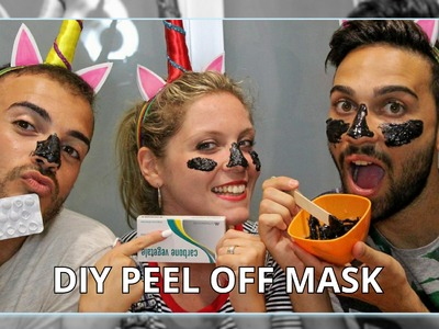 DIY MASCHERA PEEL OFF CON SOLI 3 INGREDIENTI!!! | TUTORIAL | THE UNICORNZ #weeklybeautydiy