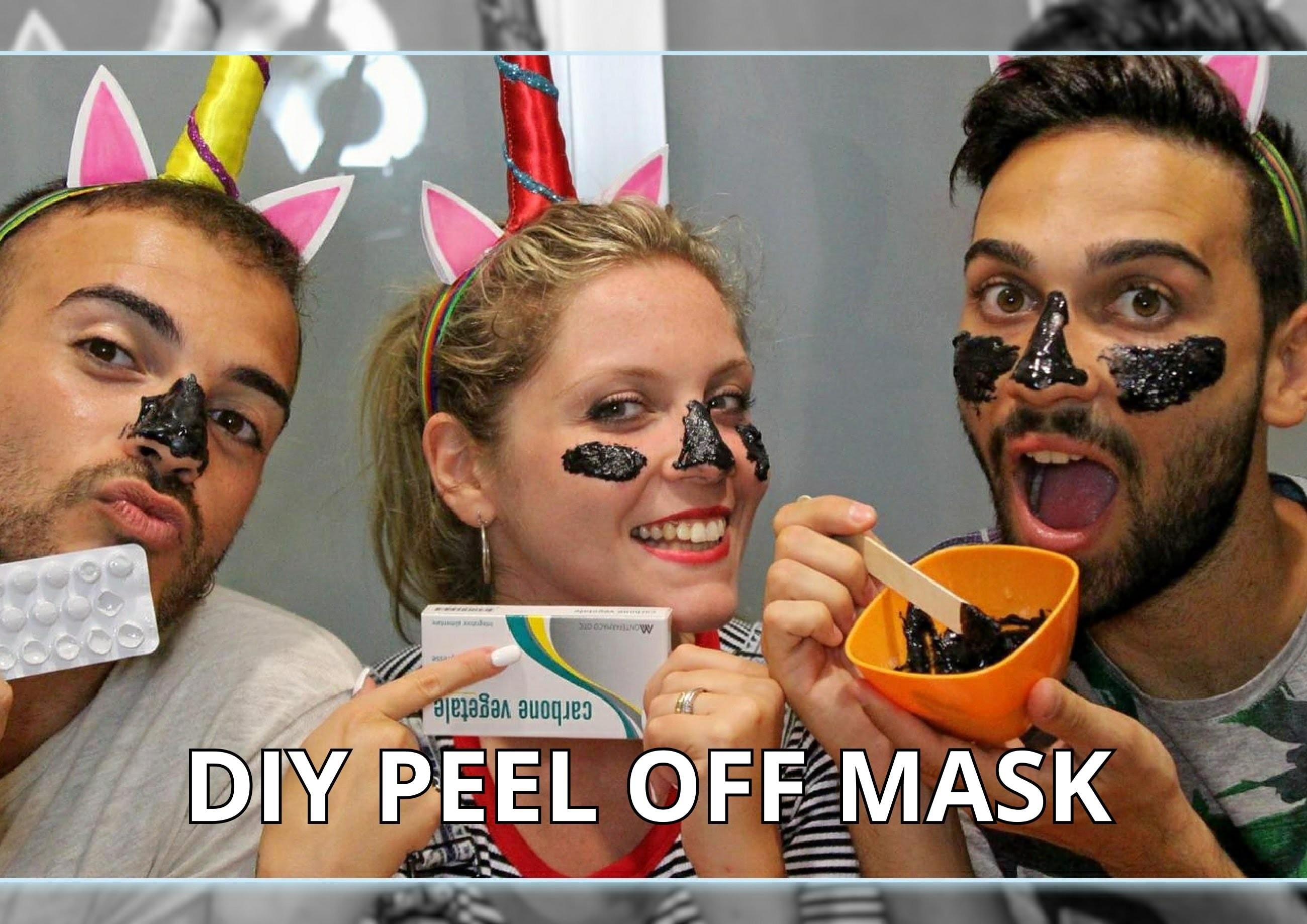 DIY MASCHERA PEEL OFF CON SOLI 3 INGREDIENTI!!! | TUTORIAL | THE UNICORNZ #weeklybeautydiy