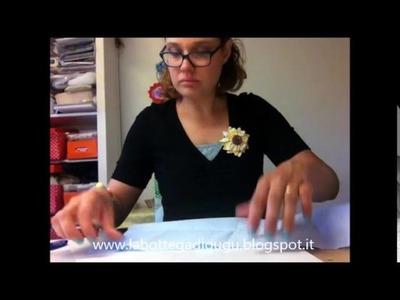 DIY - Tutorial per fare un supporto imbottito con cornice per targhe e fuoriporta