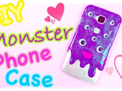 DIY CUTE MONSTER PHONE CASE | DIY Fairy