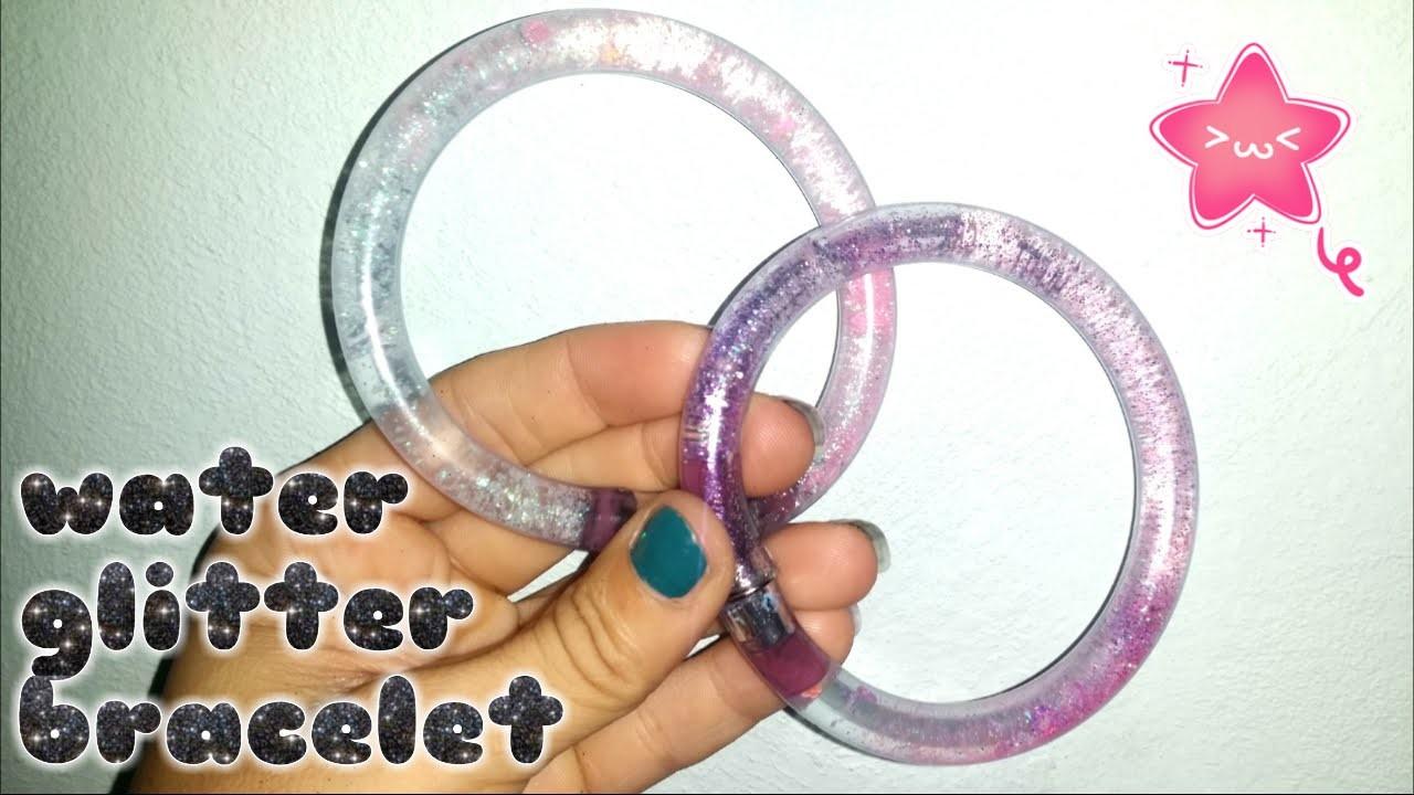 DIY ! Braccialetti a tubo con acqua e glitter - Water Glitter bracelet
