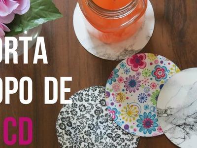 Diy - Porta copo de CD - Diane Silva
