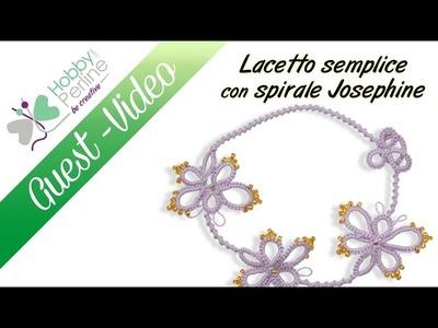 Laccetto semplice con spirale Josephine | TUTORIAL - HobbyPerline.com